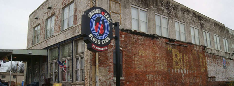 Catch the blues right where they were born: Clarksdale, MS Banner
